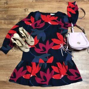 Ann Taylor Loft Long sleeve floral dress